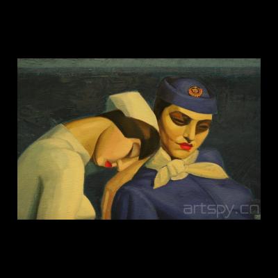 《无题(救生筏里的护士和空姐)》