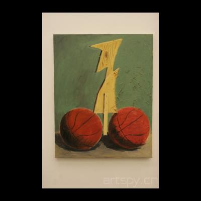 《无题(两个篮球)》