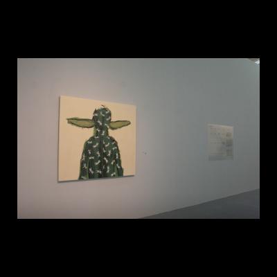 李山,阅读·系列,136×42cm,布面丙烯,2007