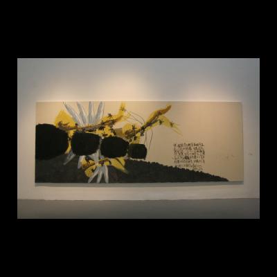 李山,阅读·系列,578×223cm,布面丙烯,1998