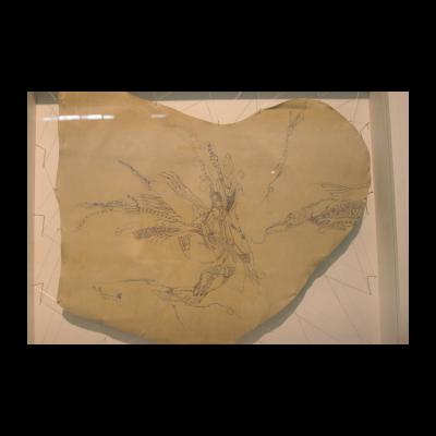 孙良,流变,61×53cm,皮面油画,2012