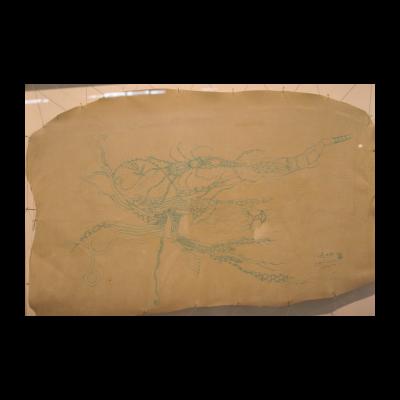 孙良,心愿之外,63×41cm,皮面油画,2012