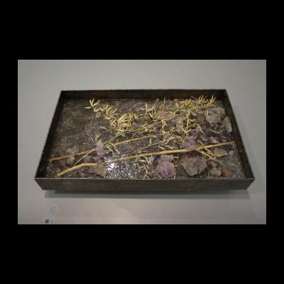 尚扬,浴竹图-3,109.8×66×12.8cm,竹、钢、树脂,2014
