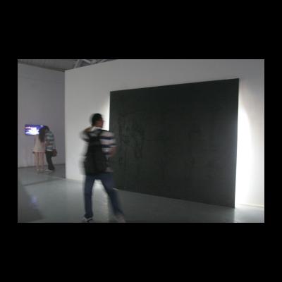 无题,沥青、灯,2008