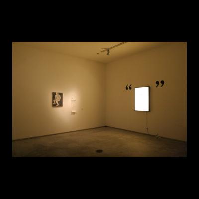 (左)郭熙,从来没有一个艺术家叫做贾斯文,纸上绘画 木板丙烯 文本 机械装置 数码喷绘,尺寸可变,2