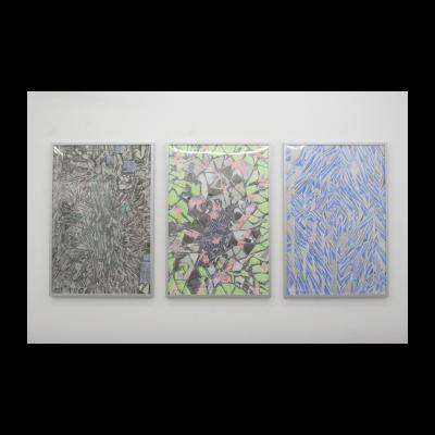 陈熹 《组成我那些由机器构成的平行世界里的抽象画的细节》